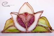 Tiffany feher tulipanos szives szalvetatarto 3