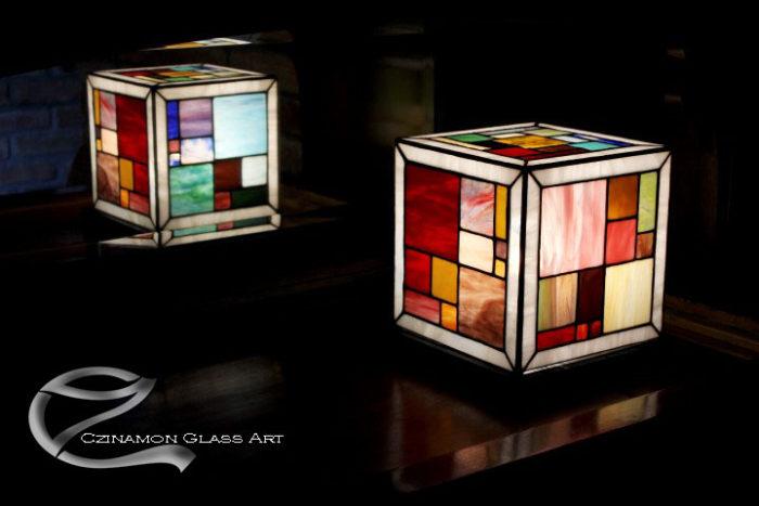 Geometrikus lámpa , színes hngulat