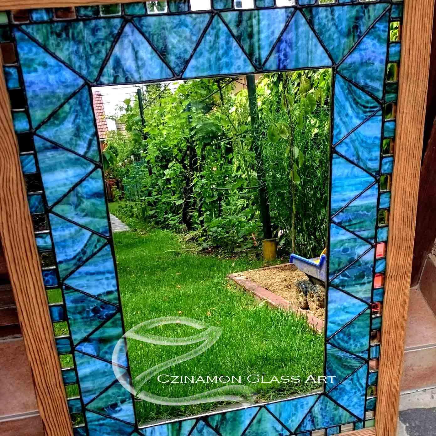 Tiffany tükör kék változatban