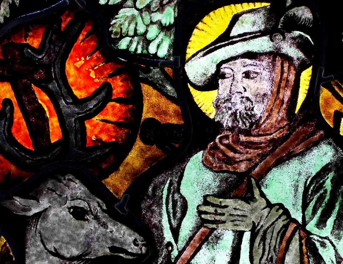 Festett Ólomüveg kép, Szent Hubertusz
