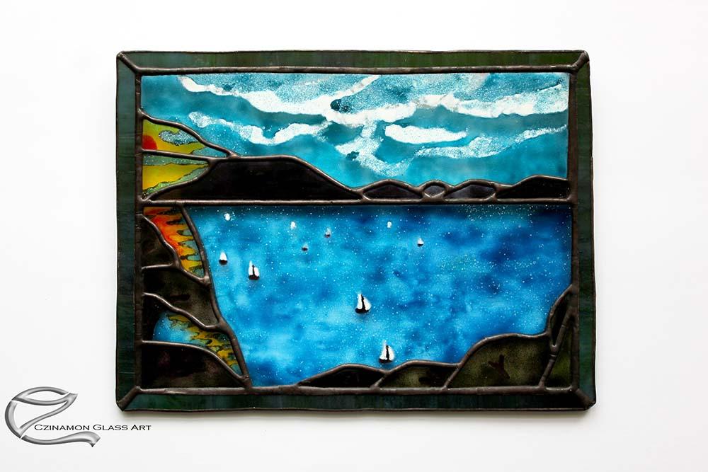 Kreatív ajándék ötletek, festett emlékkép üvegből