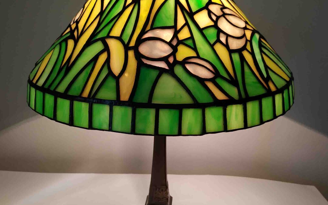 Tulipános tiffany lámpa javítása
